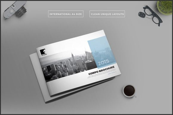 Landscape Brochure \/ Annual Report by Studio Designs on - free annual report templates