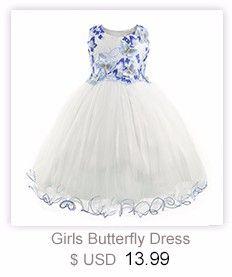 9a74f5581c85 Cielarko Girls Dress Princess Rose Flower Children Party Dresses ...