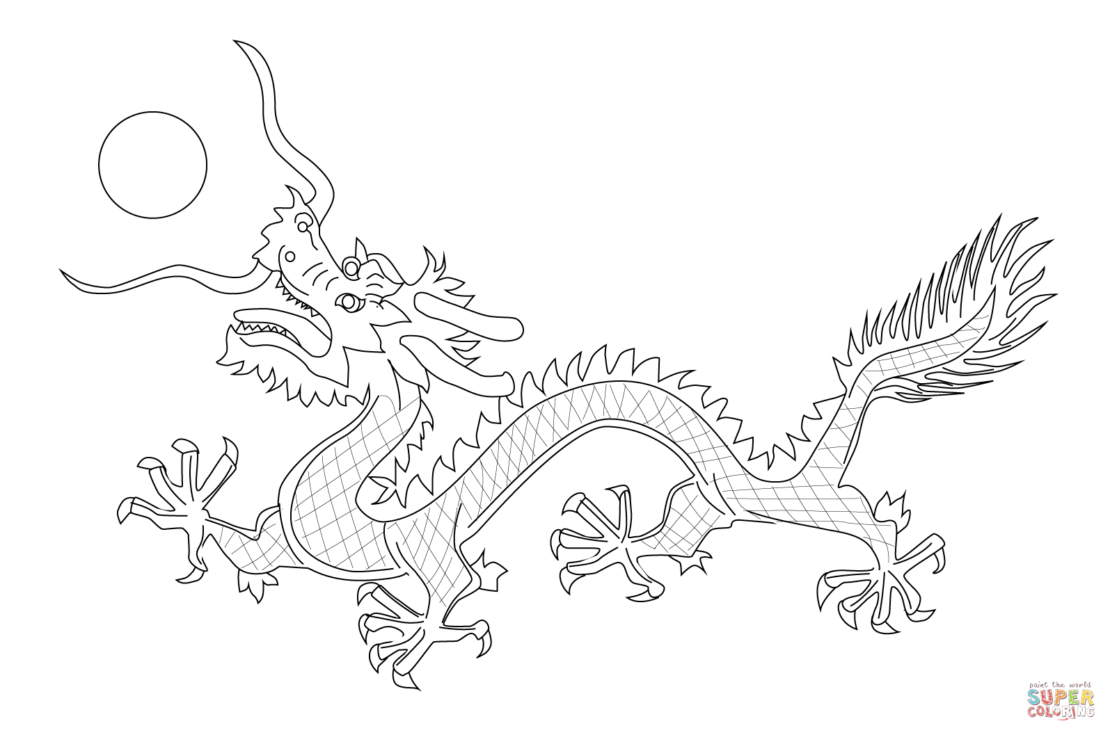 Chinese Dragon from The Flag of Qing Dynasty   Super Coloring ...