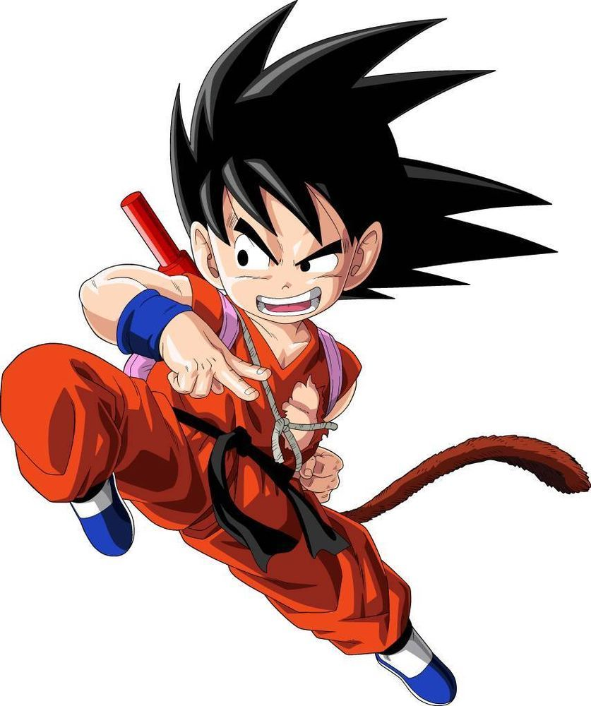 Huge KID GOKU Dragon Ball Z Decal Removable WALL STICKER Home Decor Art Red