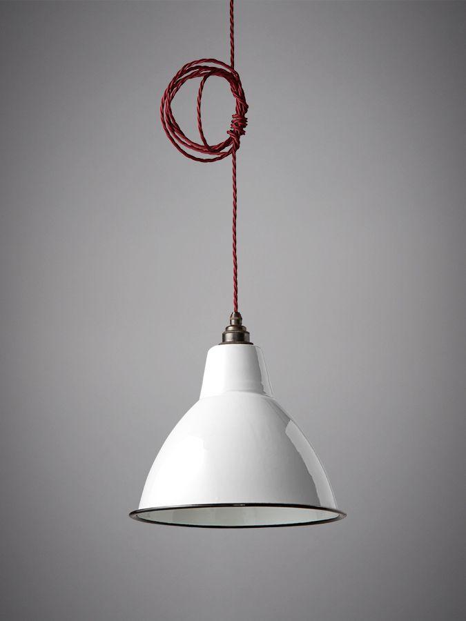 Nostalgia Lights Small Dome Enamel Shade White Nook London Vintage Lighting