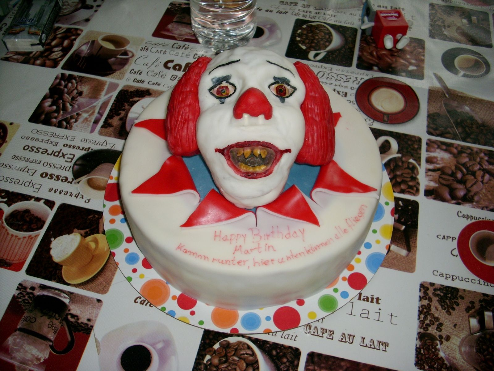Stephen King ES , Pennywise , Clown Cake