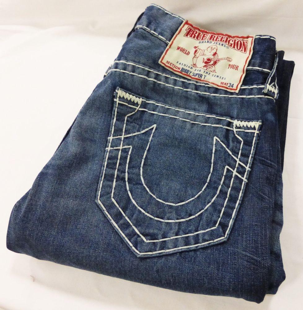 f851298a1 True Religion men jeans bobby super T dark wash thick size 32 seat ...