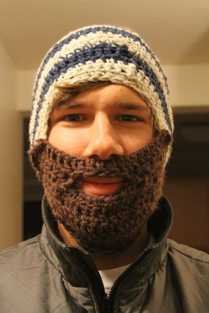 Crochet Beard Hat
