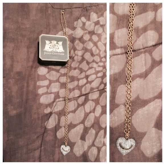 BUNDLED Gold with Silver Pave Heart❤️..comes with box Juicy Couture Jewelry Necklaces