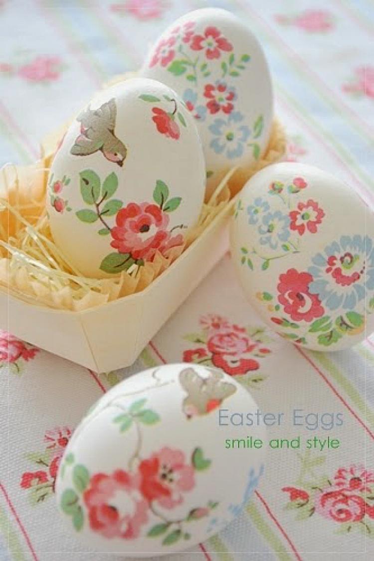 Oje ile Yumurta Kabuğuna Ebruli Desen Yapımı
