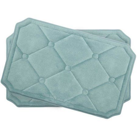 Bounce Comfort Gertie Premium Memory Foam Bath Mat Size 17 Inch X