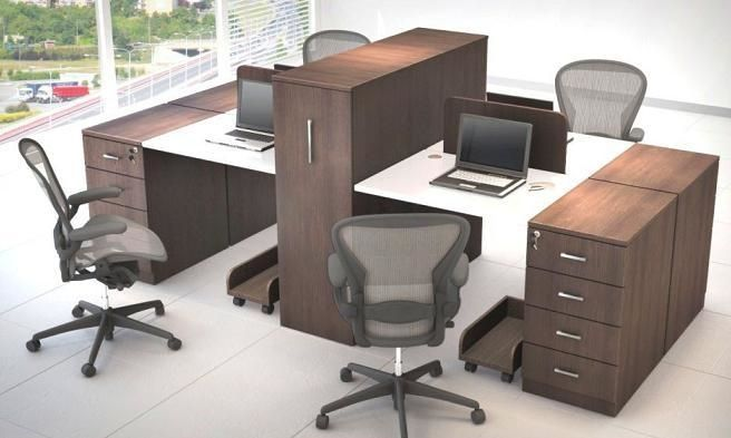 Enjoyable Masterfully Designed 4 Seater Workstations For Your Office Interior Design Ideas Clesiryabchikinfo