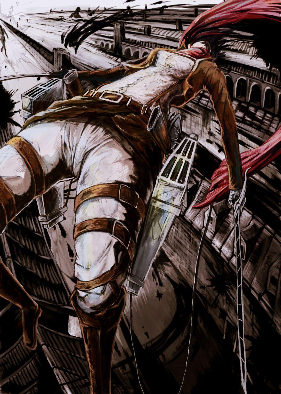 Mikasa Akerman Attack on Titan fanart manga anime