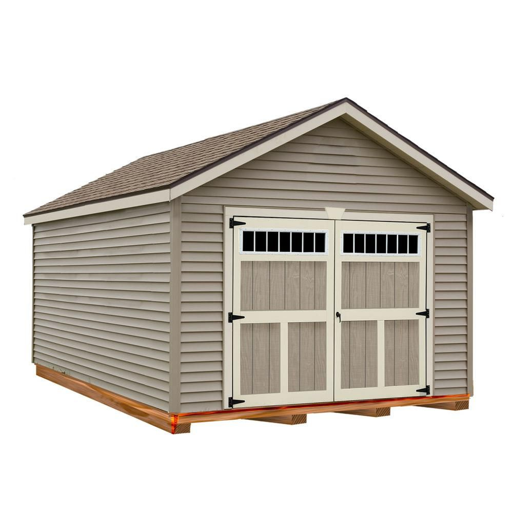 Best Barns Weston 12 Ft X 16 Ft Prepped For Vinyl Garage Kit With Floor Clear In 2020 Best Barns Roof Shapes Vinyl Siding