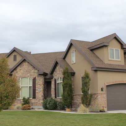 New addition will be a stucco finish with a 4 39 stone - Exterior wall finishes for homes ...