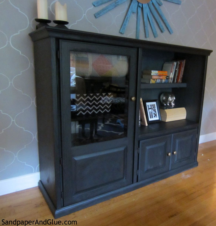 Upcycled Media Cabinet   Open living room design, Living ...
