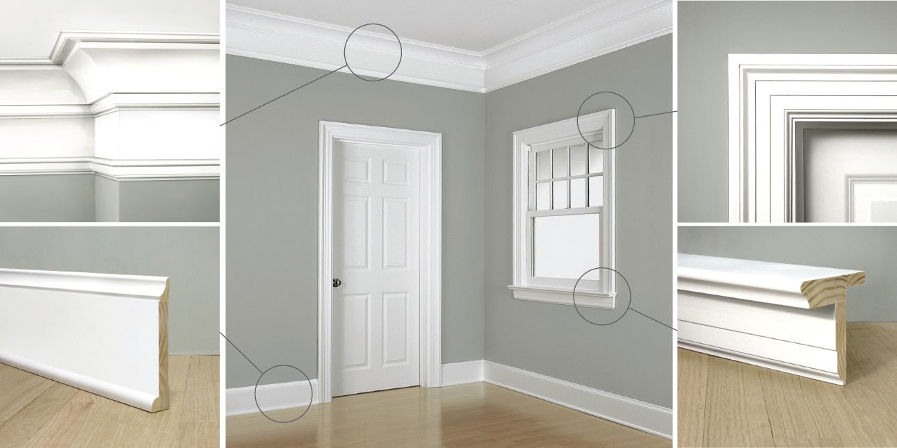 Colonial Revival Moldings 20th Century Style Windsorone Baseboard Styles Interior Design Colleges Interior Window Trim