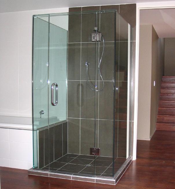Dark Tile Master Bathroom: Dark Tile Shower