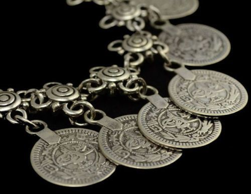 Boho Coin Silver Anklet In Silver Or Gold One Anklet