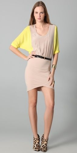 Mason by Michelle Mason Dolman Sleeve Dress - StyleSays