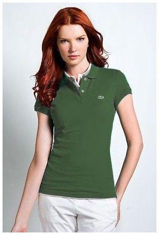 magasin ralph lauren! Vente chaude Polo Lacoste Femmes revers court T Shirt  herbe verte discount en ligne ebf76347a9cf