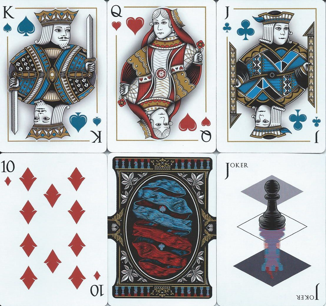 Npccd 2018 rook playing cards heart frame people