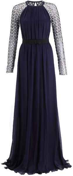 f51d47570b3e TEMPERLEY LONDON seen on ADELE Midnight Embellished Angeli Lattice Gown -  Lyst I love this as its kind of reminds me of a modern version of dresses  women of ...