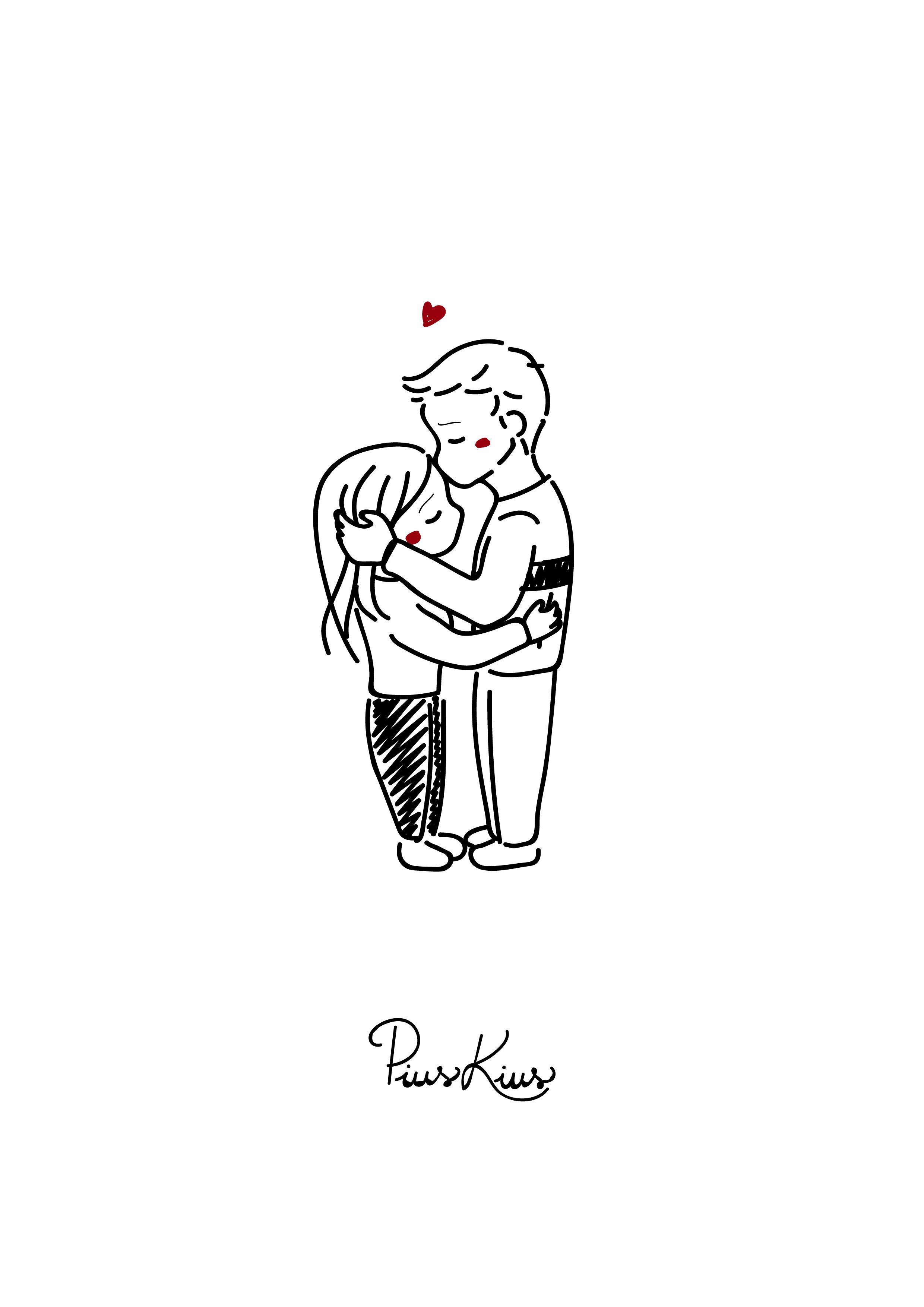 Front Kiss Dibujos De Abrazos Dibujos Animados De Pareja Bocetos Bonitos De Parejas