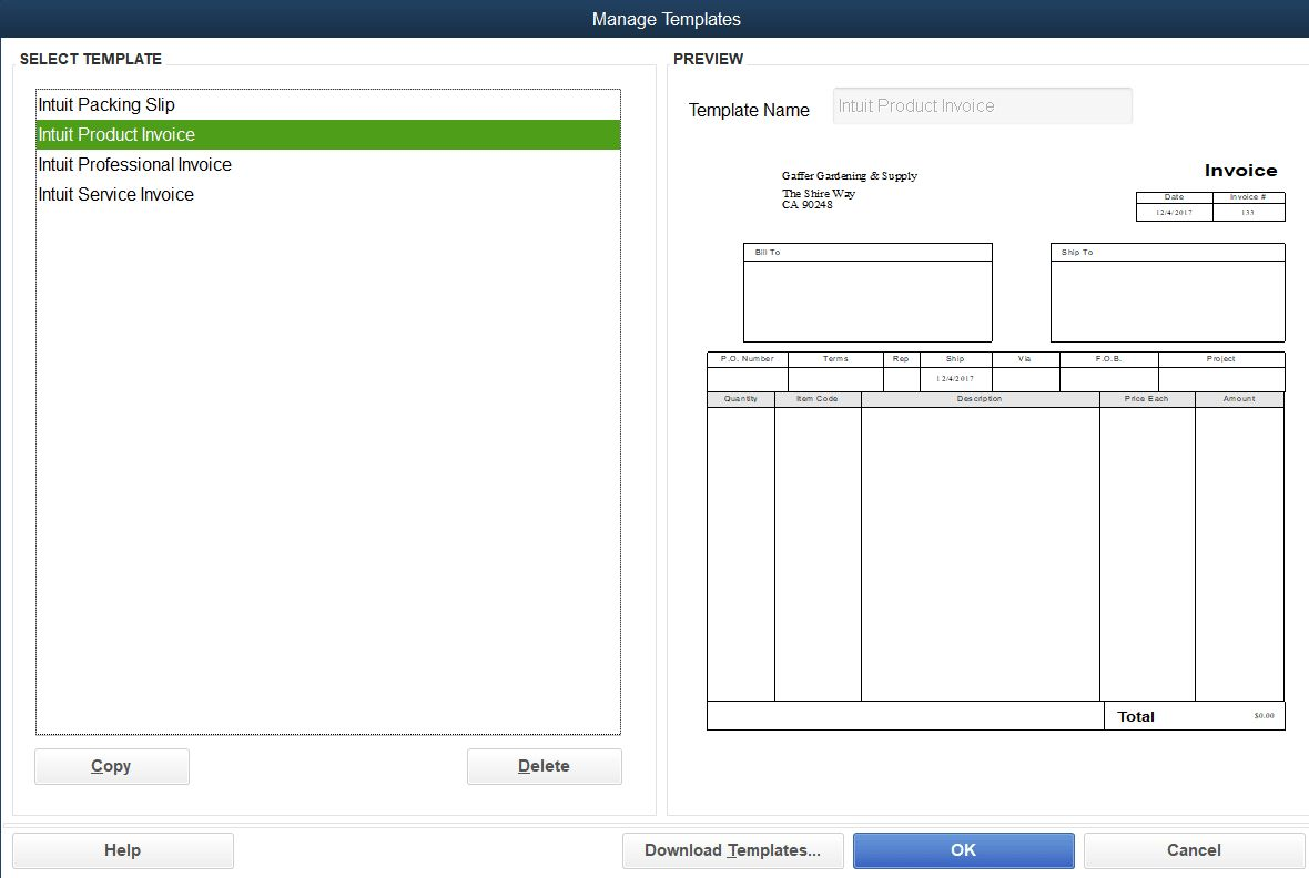 How To Customize Invoice Templates In Quickbooks Pro Regarding How To Change Invoice Template In Quickbooks Be Invoice Template Create Invoice Quickbooks Pro