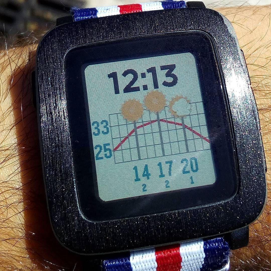 Hoy vamos a pasar CALOR #watchface #pebble Time Graph Weather http://ift.tt/2bkzYGm