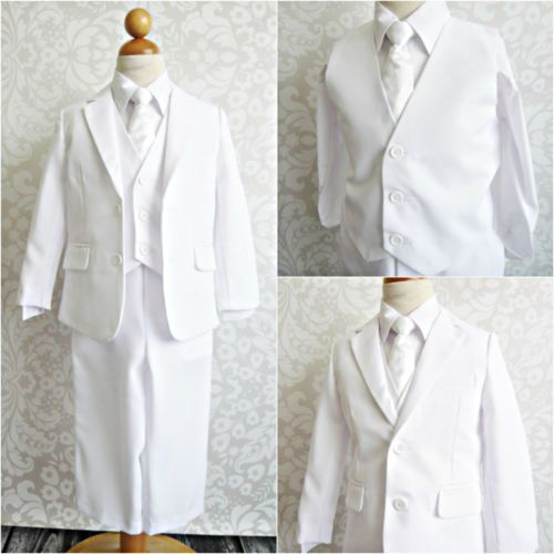 LTF-WHITE-BOY-FIRST-COMMUNION-BAPTISM-WEDDING-PARTY-FORMAL-DRESS ...