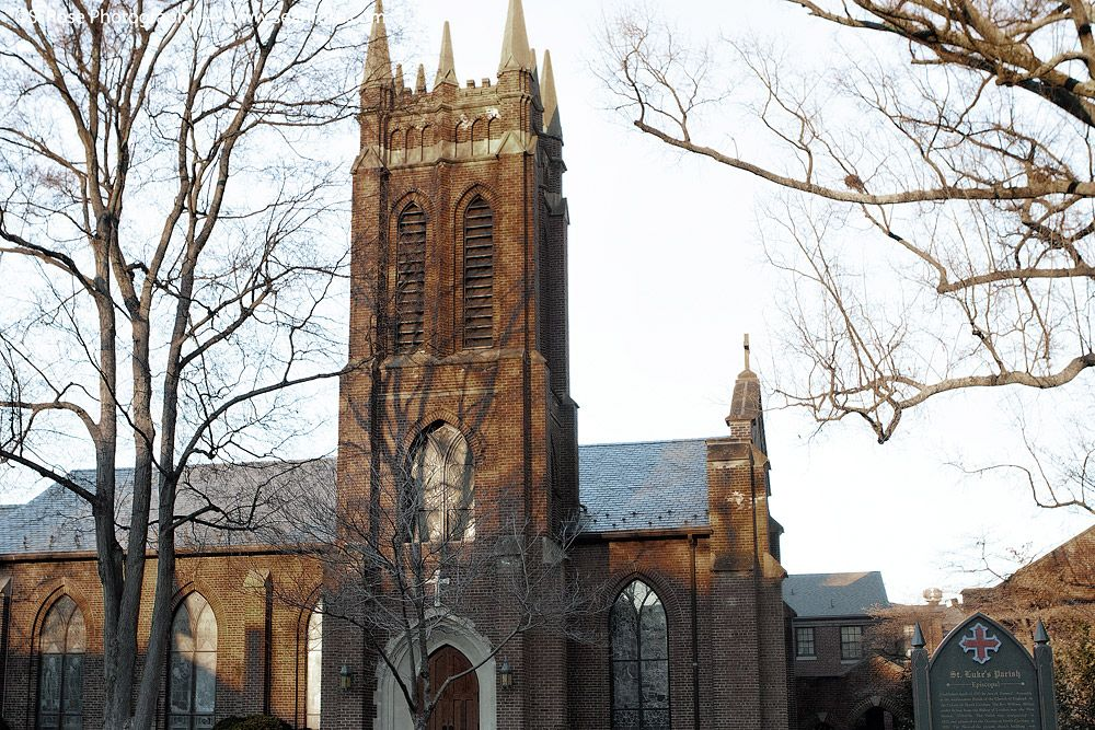 St. Luke's Episcopal Church Historic Salisbury, NC in Winter