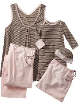 c40deb672a39e7 Old Navy mommy & baby nursing set - sleeveless nursing top & lounge pants  for mom, sleeper gown & hat for baby, cotton jersey gift bag - $22#Repin ...