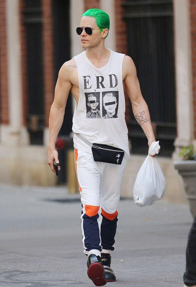Jared Leto Green Hair Muscle Tank Jared Leto Joker Jared Leto Leto Joker