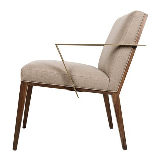 Caden Lounge Chair Contemporary, Traditional, Transitional, MidCentury  Modern, Metal, Wood,