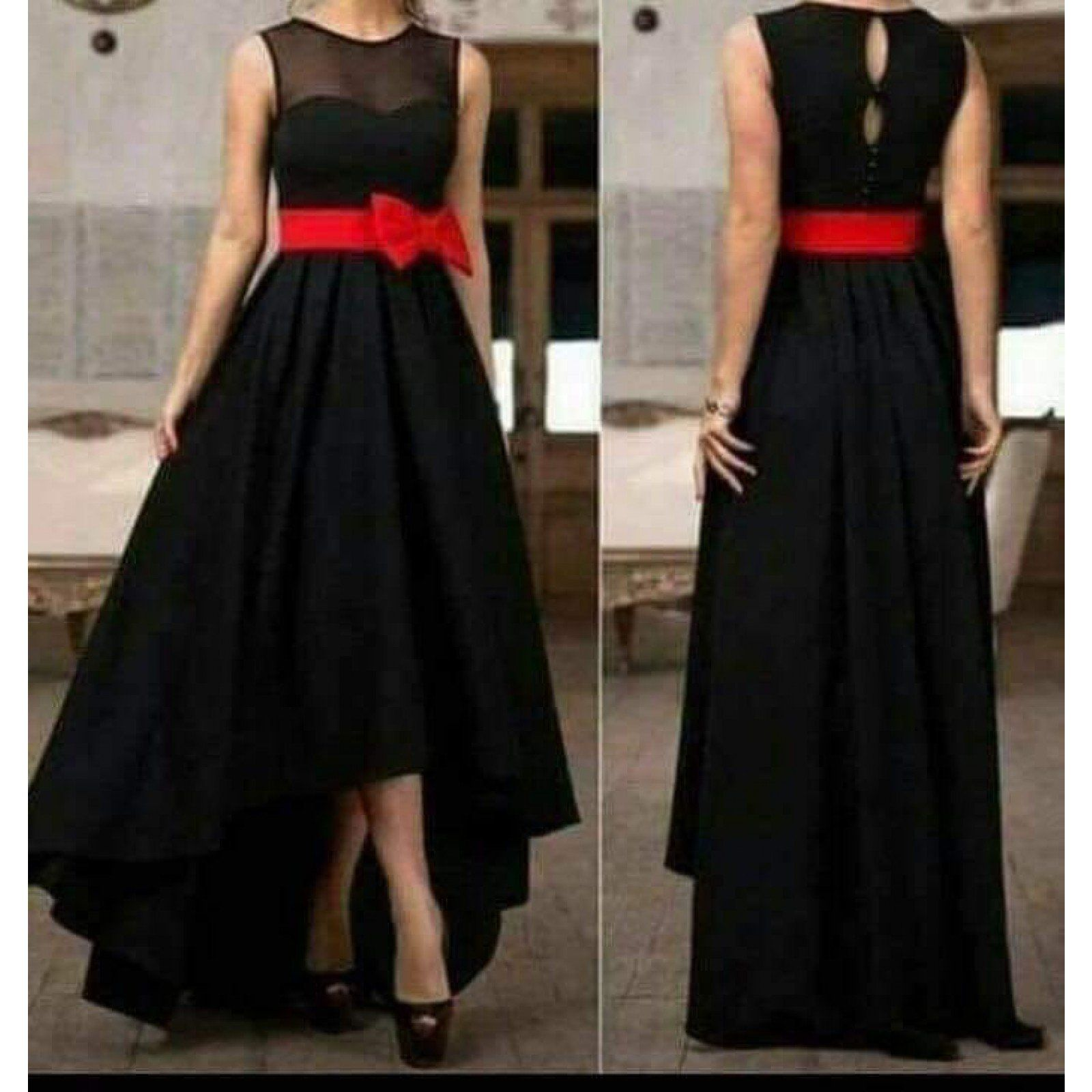 c6b33e54e21 Amazing black colored muslin high-low Gown