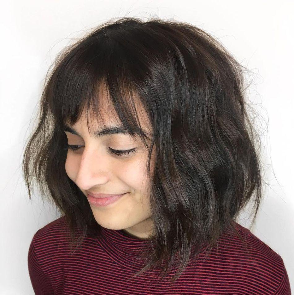 stunning medium hairstyles for round faces hair pinterest
