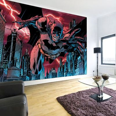 Comic Book Murals Heroes With A Stunning Dynamic Mural Licensed By D C