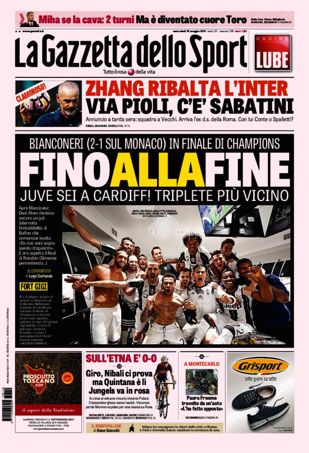La Gazzetta dello Sport // 10/05/2017 // Umorismo