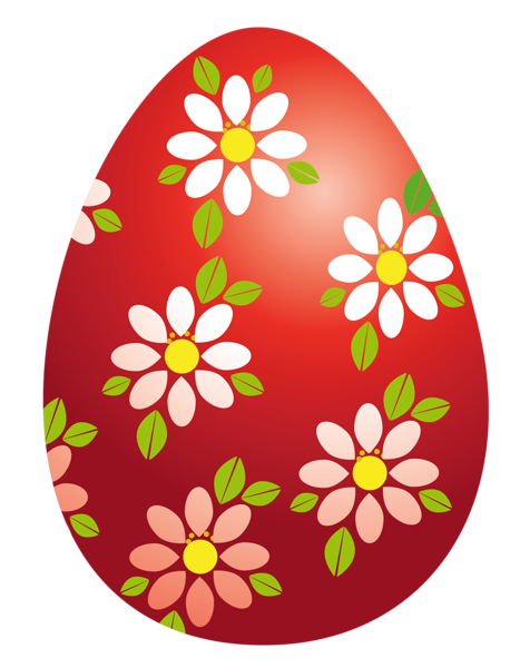Easter Red Egg With Flowers Png Clipart Picture Easter Egg Pictures Easter Wallpaper Easter Egg Painting