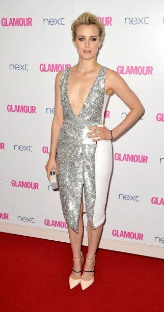 Taylor Chilling wearing Petter Pilotto at 2014 Glamour Women of the Year.