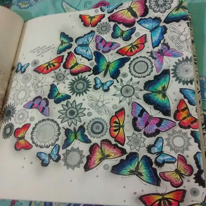 Adult Coloring Books Colouring Secret Gardens Butterflies Johanna Basford Zentangles Insects Enchanted