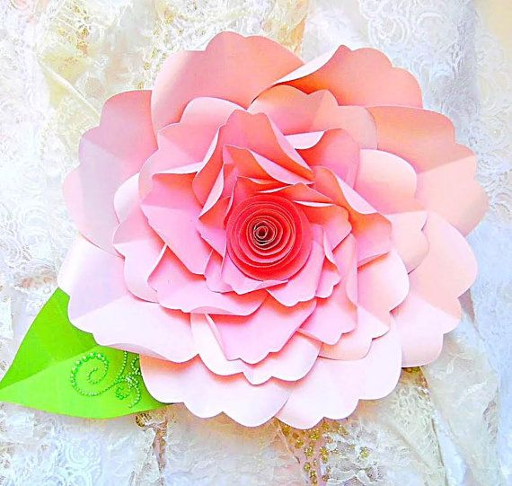 Diy large paper flower tutorial with templates rosette paper diy large paper flower tutorial with templates rosette paper flower backdrop giant flowers mightylinksfo