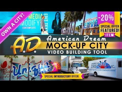 Ad City Titles Mockup Business Intro Videohive After Effects