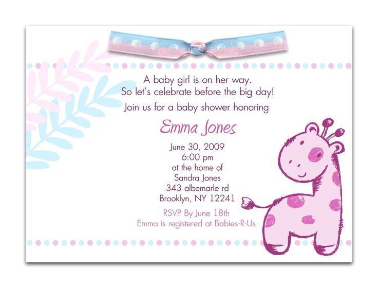 Nice Excessive-Class Child Bathe Invitation Wording - BabySof - email baby shower invitation templates