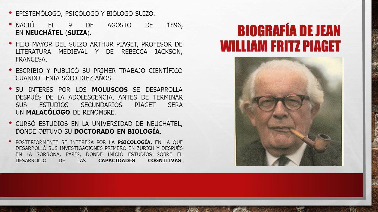 1f7316d24c3 Image result for biografia de jean piaget resumen
