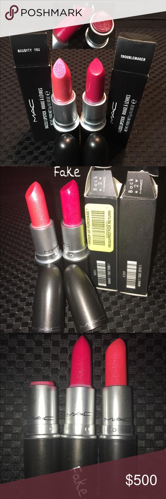 Fake Dazzle VS Authentic MAC Dazzle Lipstick Lipstick