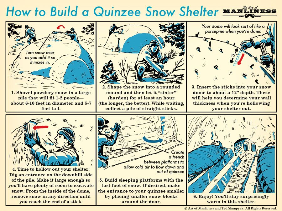 How to build a Quinzee Snow Shelter-  practical & fun!