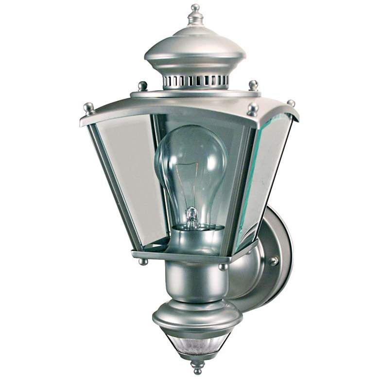 Charleston Coach Silver Motion Sensor Outdoor Light Motion