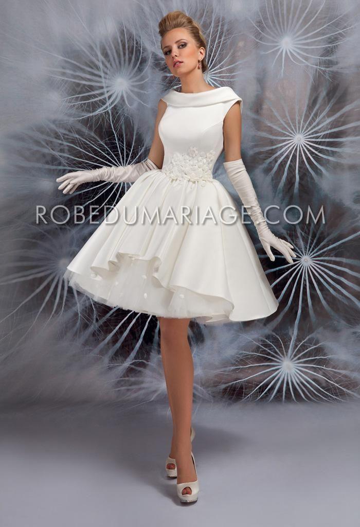 Robe de mariée vintage civile courte pas cher  Robe de mariée pas ...