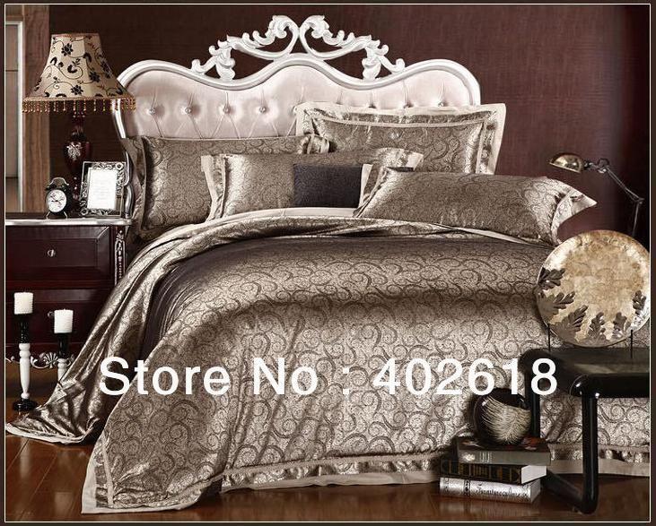 Free Shipping 4PCS Font B Bedding B Font Set Bed Sheet Jacquard Weave Satin Drill Size  (731×587) | Dream Bedrooms | Pinterest