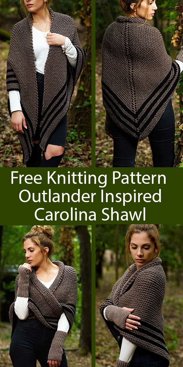 Outlander Carolina Shawl Pattern | Handy Little Me #knittingpatternsfree