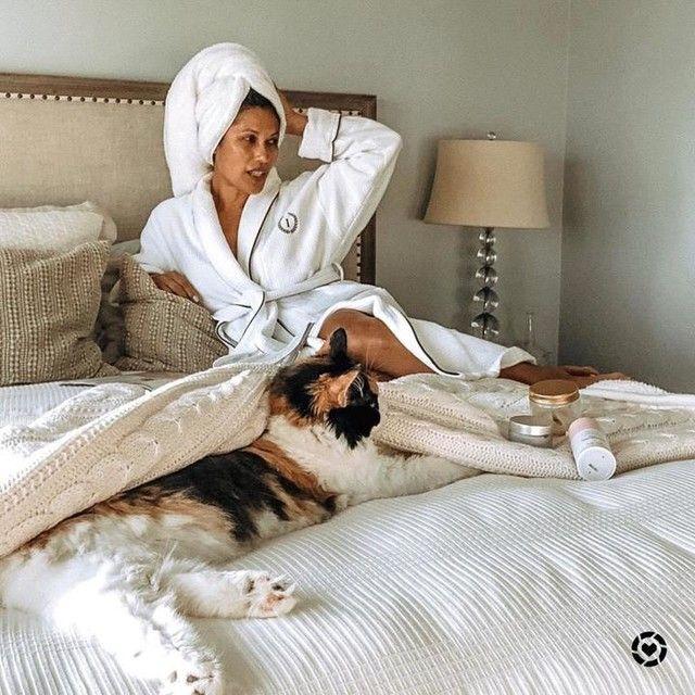Hotel Piped Trim Bath Robe Robe Bean Bag Chair Sash