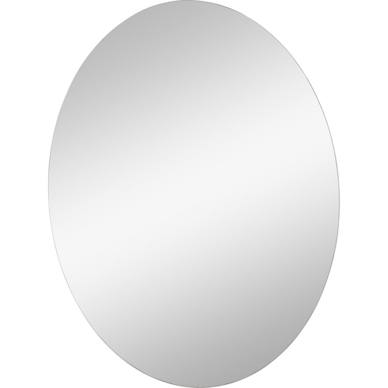 Miroir Non Lumineux Decoupe Ovale L 60 X L 45 Cm Poli Miroir Ovale Miroir Et Petit Miroir